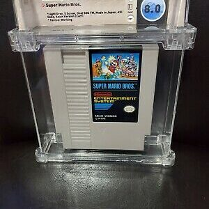 Super Mario Bros NES Asia Variant WATA GRADED 8.0