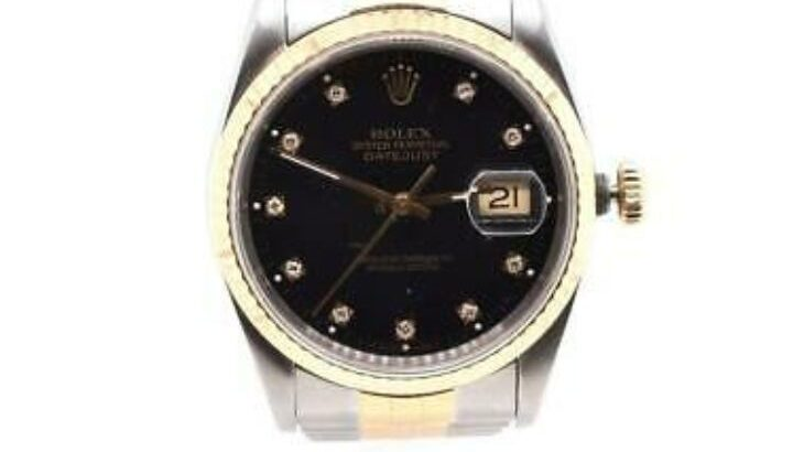 Rolex two tone date just 36 with factory black dia