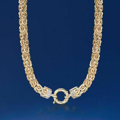 18″ Natural Diamond Accent Unique Byzantine Chain
