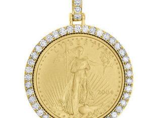 1987 24 Karat Gold American Eagle Pendant 1/4oz.