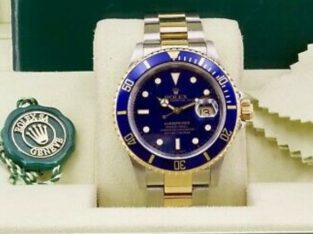 Rolex submariner blue men's watch