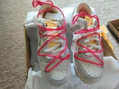 Nike off white dunk low lot 17 of 50 pink Dj0950