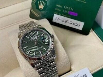 2021 Rolex Datejust 36mm 126234 Olive Green