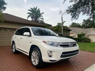 2012 Toyota Highlander LIMITED HYBRID AWD, $2500