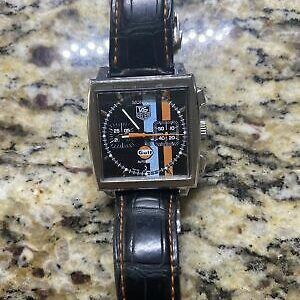 TAG Heuer Monaco Men's Black Watch – CW211A Gulf R