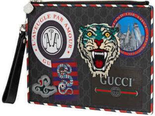 3/7 Gucci Men's Night Courrier GG Supreme Pouch 4