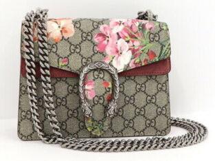 Gucci Dionysus Mini Blooms Chain Shoulder Bag.